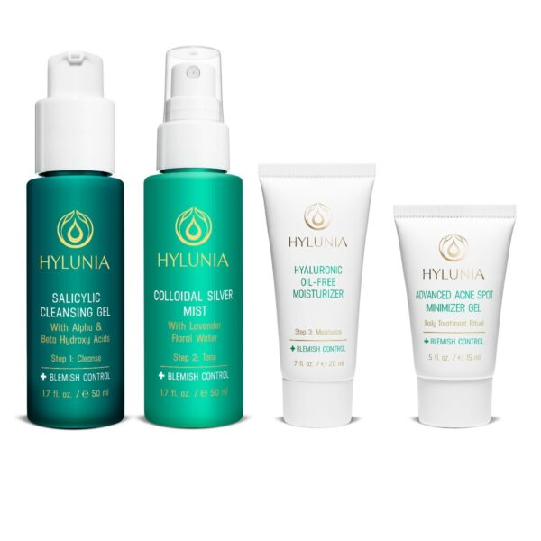 TSA-Friendly This travel kit is specially designed for acne-prone / oily skin. Recommended for: Acne prone Oily skin. Items included: Salicylic Cleansing Gel Colloidal Silver Mist Advanced Acne Spot Minimizer Gel Hyaluronic Oil Free Moisturizer